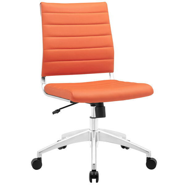 Jive Armless Mid Back Office Chair in Orange, image 2