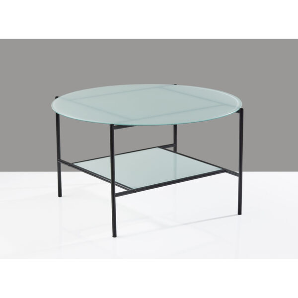 Stephen Black and White Two-Tiered Coffee Table, image 4