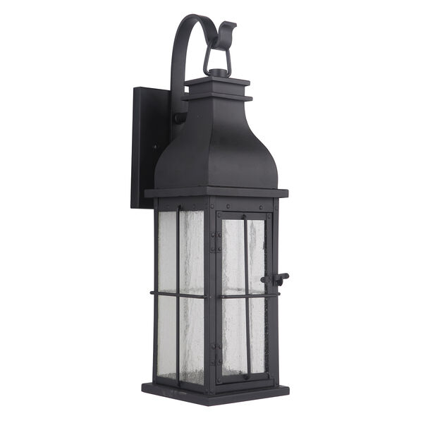 Vincent Midnight Seven-Inch LED Outdoor Wall Lantern, image 1