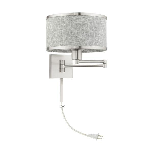 Park Ridge Brushed Nickel One-Light Swing Arm Wall Lamp, image 2