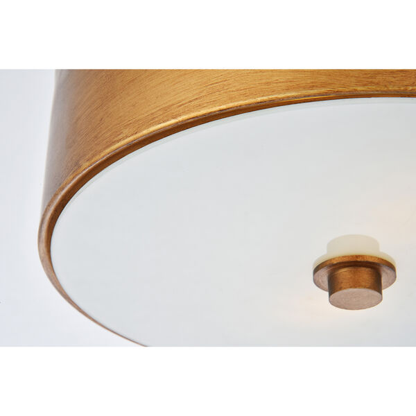 Hazen Vintage Gold and Frosted White Two-Light Flush Mount, image 6