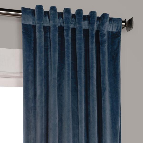 Blue 108 x 50 In. Plush Velvet Curtain Single Panel, image 9