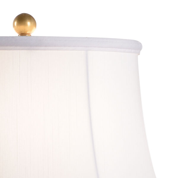 Beverly Tarnished Brass and White One-Light Glen Lamp, image 3