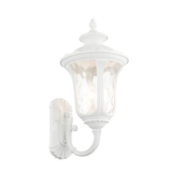 Oxford Textured White Three-Light Outdoor Wall Lantern, image 4