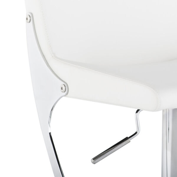 Swing White and Silver Adjustable Stool, image 4