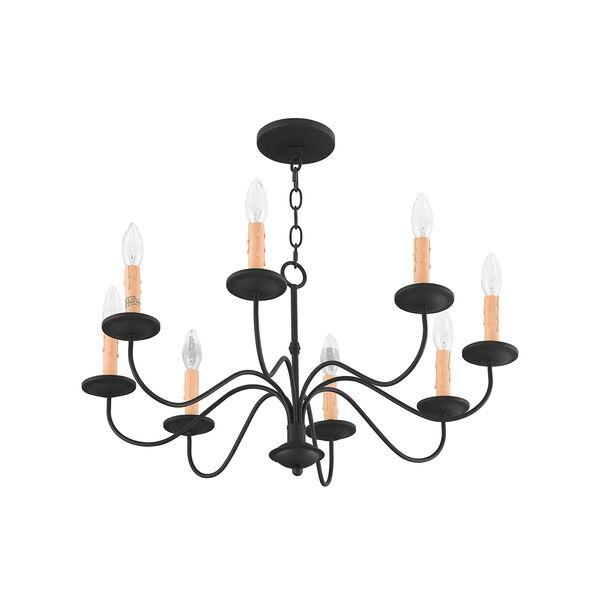 Heritage Black Eight-Light Chandelier, image 5