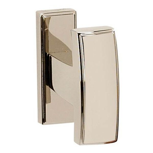 Arch Polished Nickel 2 1/4-Inch Robe Hook, image 1