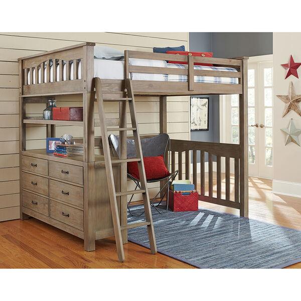 Highlands Driftwood Full Loft Bed, image 1