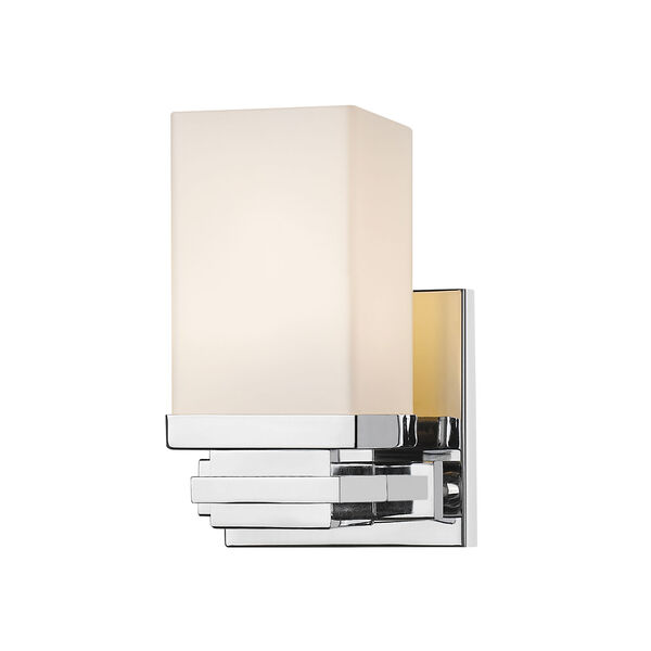 Avige Chrome One-Light LED Wall Sconce, image 1