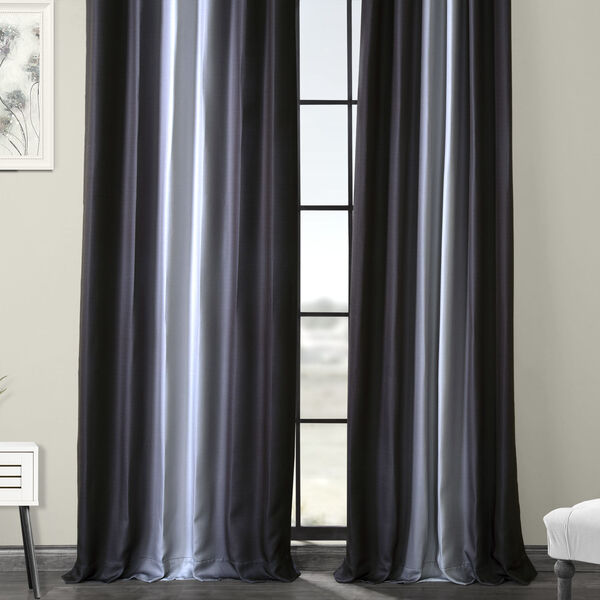 Grey 84 x 50-Inch Polyester Blackout Curtain Single Panel, image 6