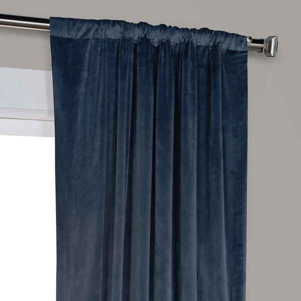 Blue 108 x 50 In. Plush Velvet Curtain Single Panel, image 8