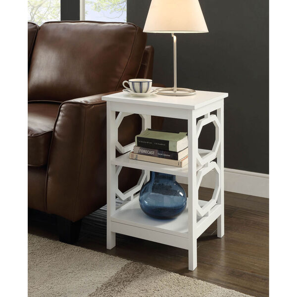 Omega End Table with Shelves, image 1