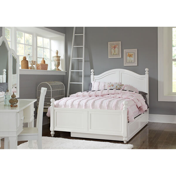 Lake House White Payton Arch Full Bed with Trundle, image 1