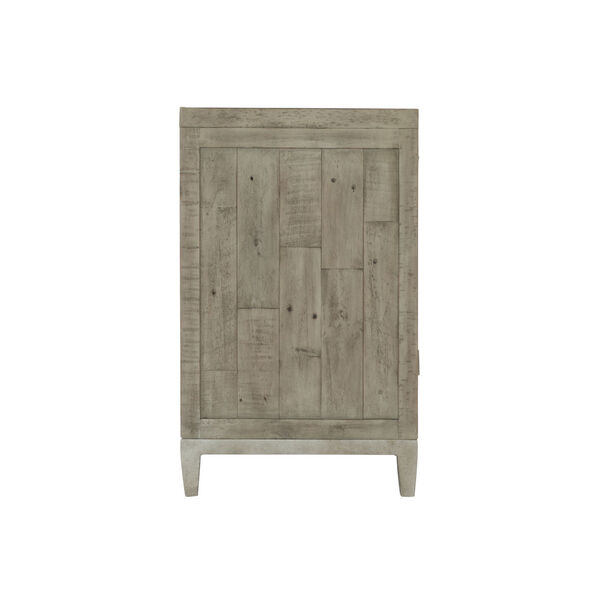 Glazed Silver and Brown 32-Inch Loft Shaw Nightstand, image 3