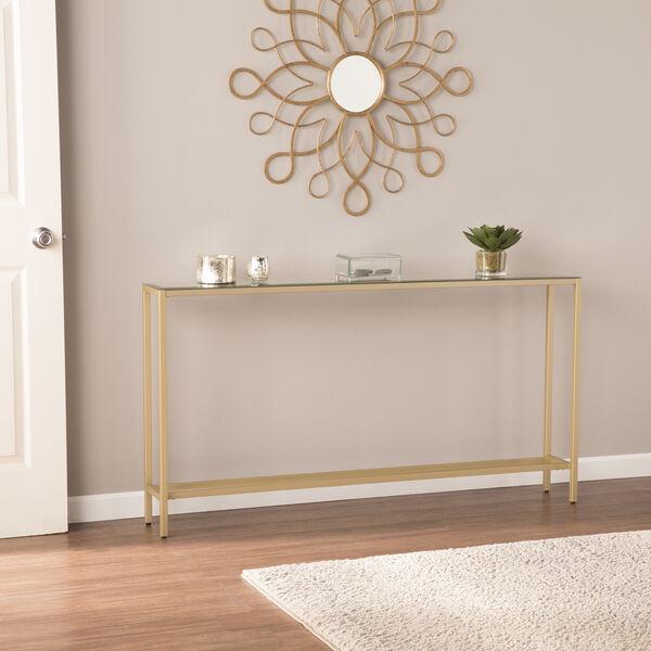 Darrin Metallic Gold Console Table, image 1