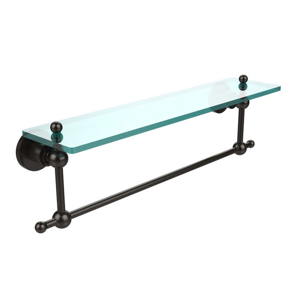 Oil Rubbed Bronze 22-Inch Single Shelf with Towel Bar, image 1