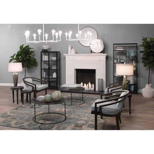 Bridgette Gray and Black Swirl Glass One-Light Table Lamp, image 4