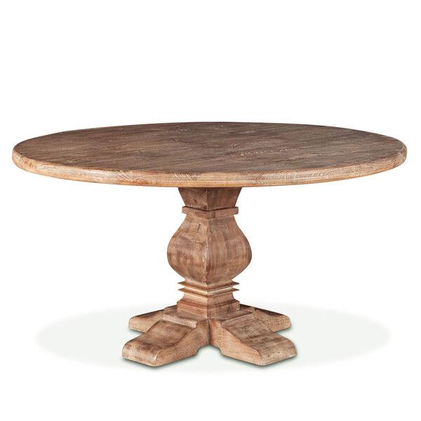 World Interiors Mango Wood 54 Round, 54 Round Pedestal Table