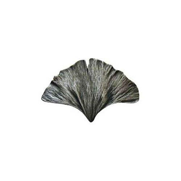 Antique Pewter Gingko Leaf Knob , image 1