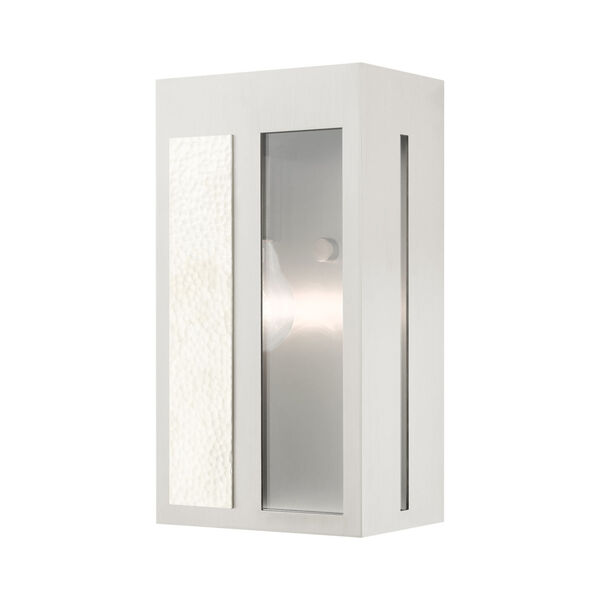 Lafayette Brushed Nickel Six-Inch One-Light Outdoor ADA Wall Sconce, image 1