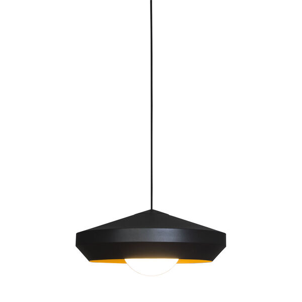 Hoxton White and Gold One-Light Pendant, image 1