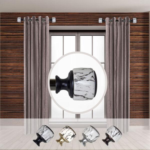 Josephine Black Side Curtain Rod, Set of Two, image 2