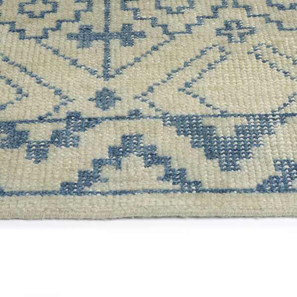 Knotted Earth Blue and Ivory 4 Ft. x 6 Ft. Area Rug, image 3