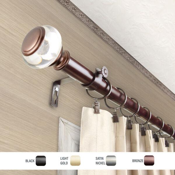 Ironwood Bronze 48-84 Inch Curtain Rod, image 3
