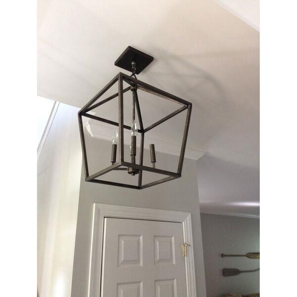 Kenwood Antique Silver Four-Light Lantern Pendant, image 4