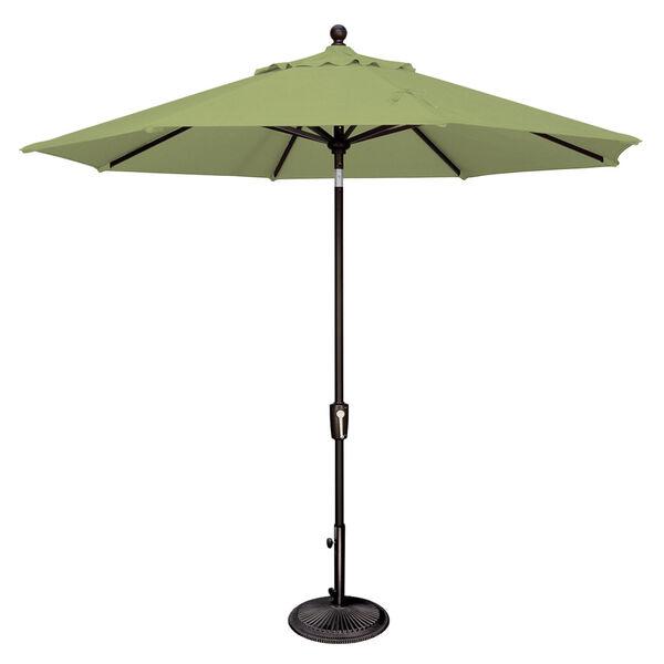 Catalina Ginkgo and Black Push Button Market Umbrella, image 1