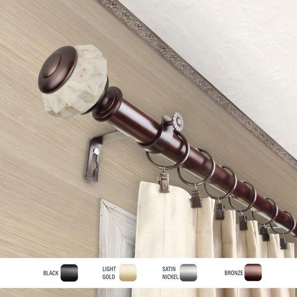 Linden Bronze 66-120 Inch Curtain Rod, image 3