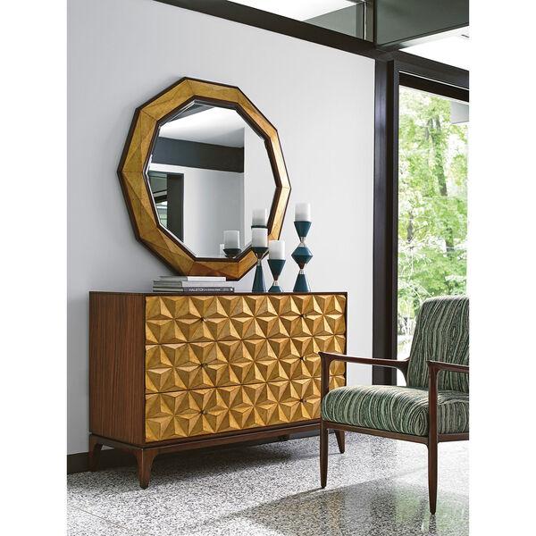 Take Five Brown Savoy Round Mirror, image 4
