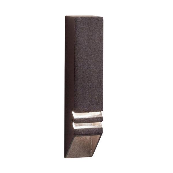 Textured Architectural Bronze 6-Inch One-Light Landscape Deck Rail Light, image 2