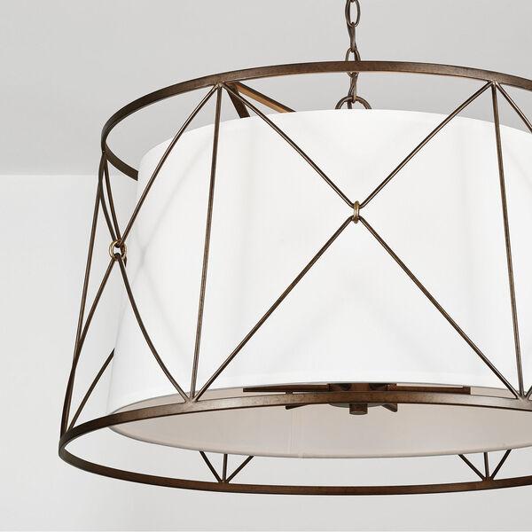 Adrian Buffed Bronze Six-Light Pendant, image 3