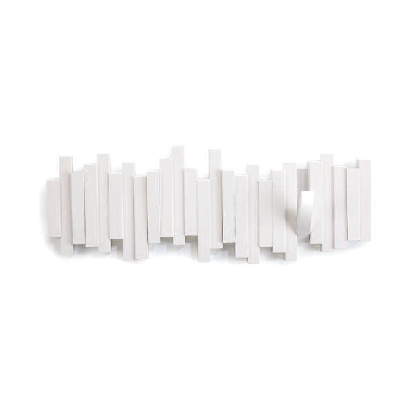 White Sticks Multiple Hook Coat Rack, image 1