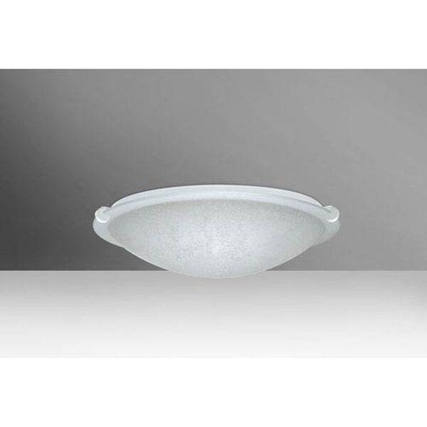 Trio 12 White One-Light Flush Mount with Stucco Glass, image 1