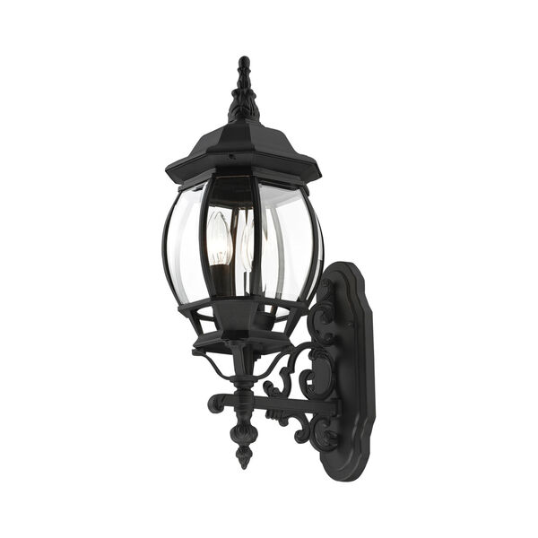 Frontenac Textured Black 22-Inch Three-Light Outdoor Wall Sconce, image 6