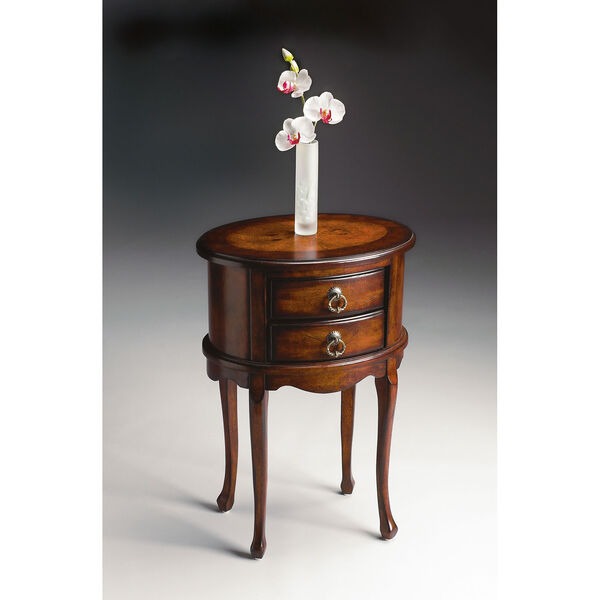 Plantation Cherry Oval Side Table, image 2