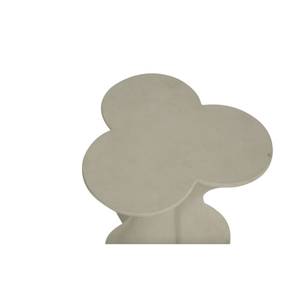 Carlin Textured Misty White End Table, image 3