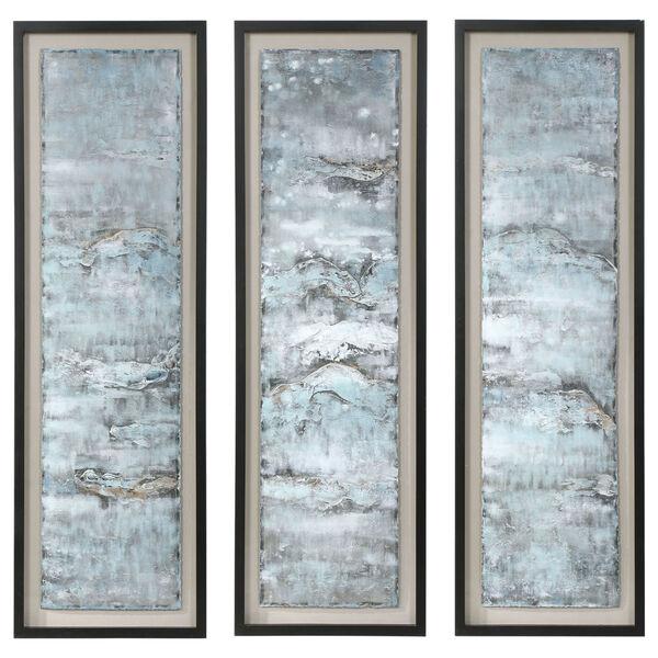 Ocean Swell Beige Painted Metal Art, Set of 3, image 2