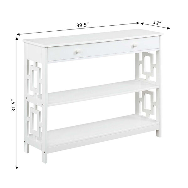 Town Square White Accent Console Table, image 6