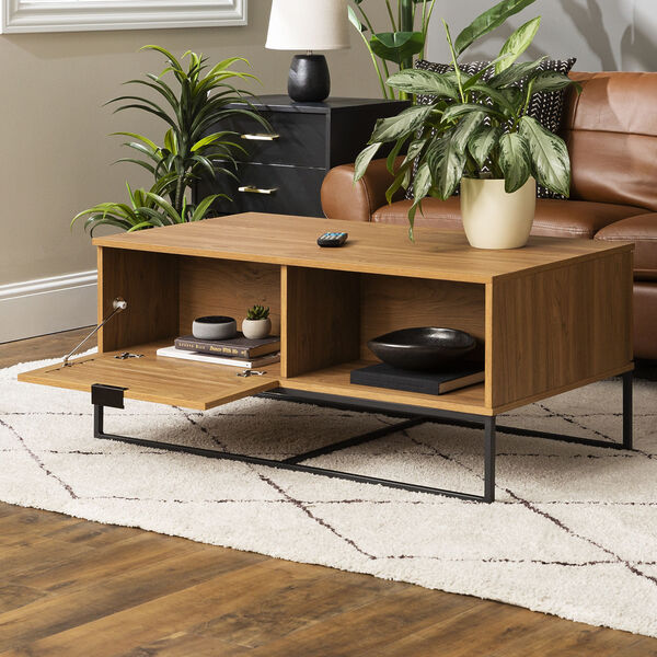 Jackson English Oak and Black Slat Door Coffee Table, image 2