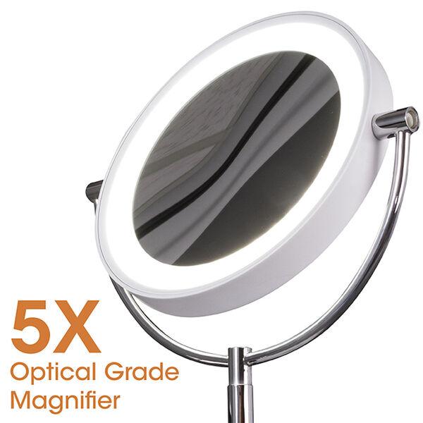 White Wireless Charging LED Makeup Mirror, image 3