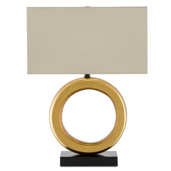 Kirkos Painted Gold and Glossy Black One-Light Table Lamp, image 2