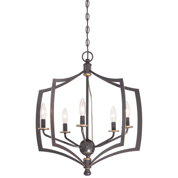 Middletown Downtown Bronze 23-Inch Five-Light Pendant, image 1
