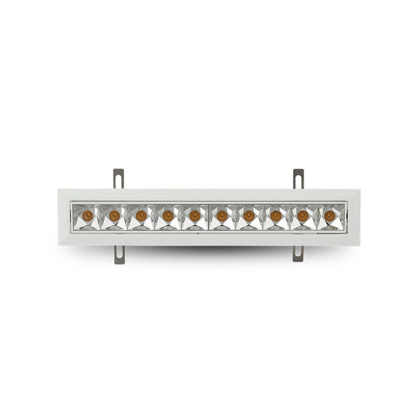 Rubik White 10-Light Adjustable LED Recessed Downlight, image 3
