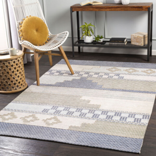 Didim Taupe and Teal Runner Rug, image 2
