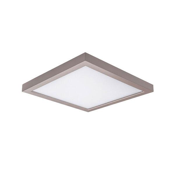 Nickel 5-Inch 3000K LED ADA Square Flush Mount, image 1