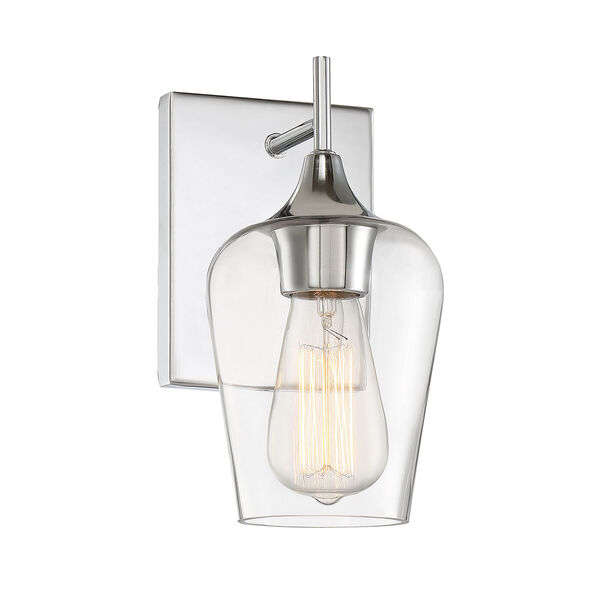 Selby Polished Chrome One-Light Wall Sconce, image 4