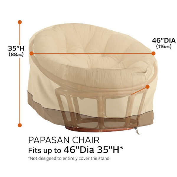 Ash Beige and Brown Papasan Patio Chair Cover, image 4